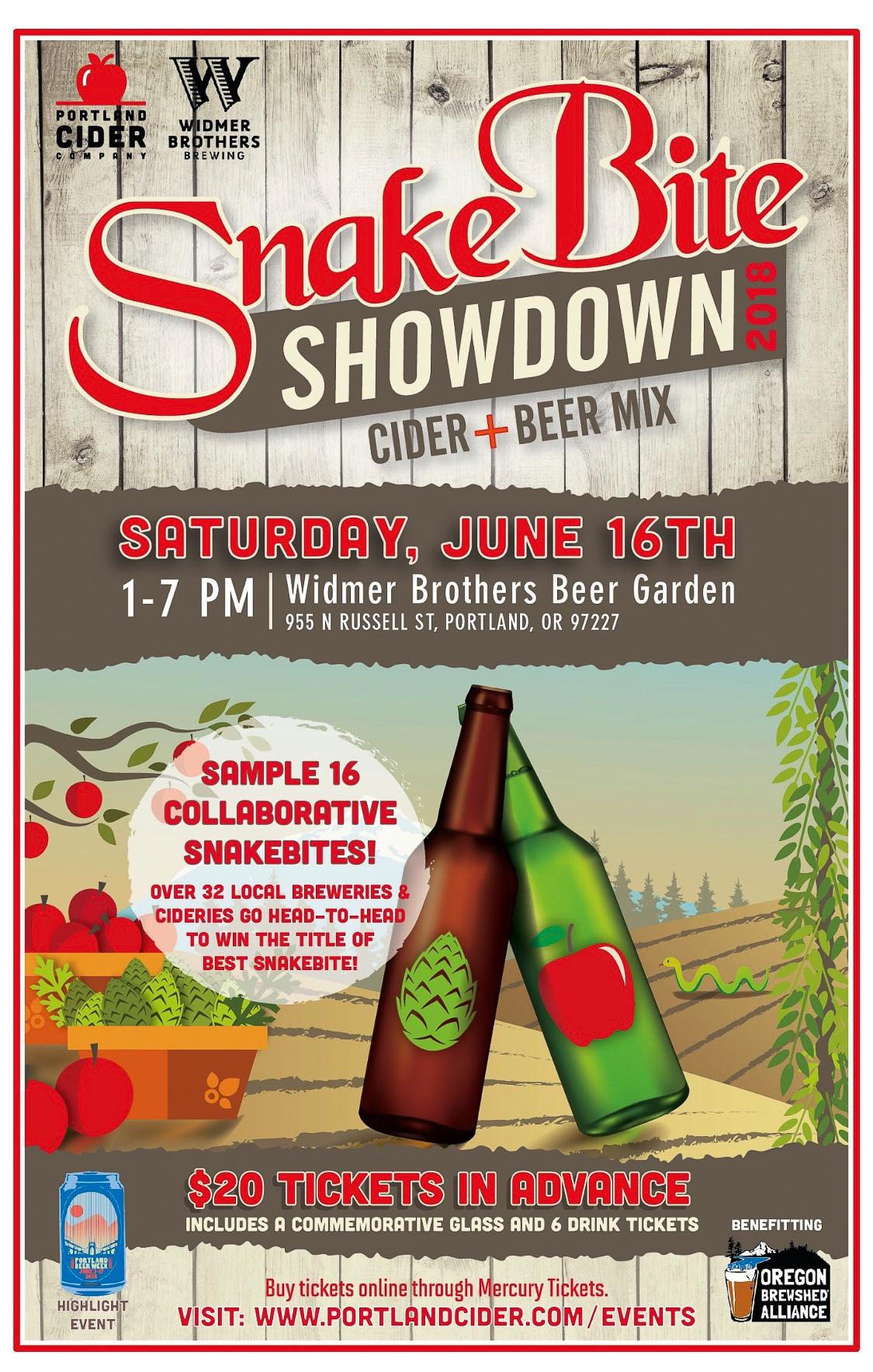 Snakebite Showdown Helen Lewis & Jake Neilson - Portland Beer Podcast episode 69 by Steven Shomler